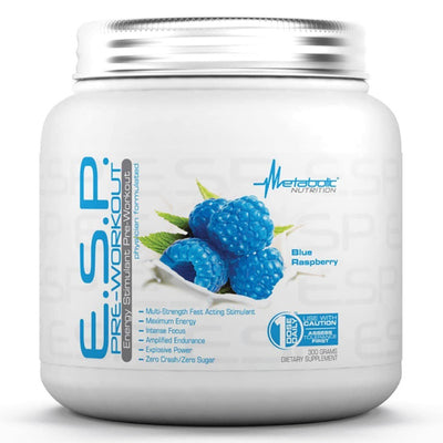 Metabolic Nutrition E.S.P. 300 Grams Pre-workout Metabolic Nutrition Blue Raspberry  (1059080437803)