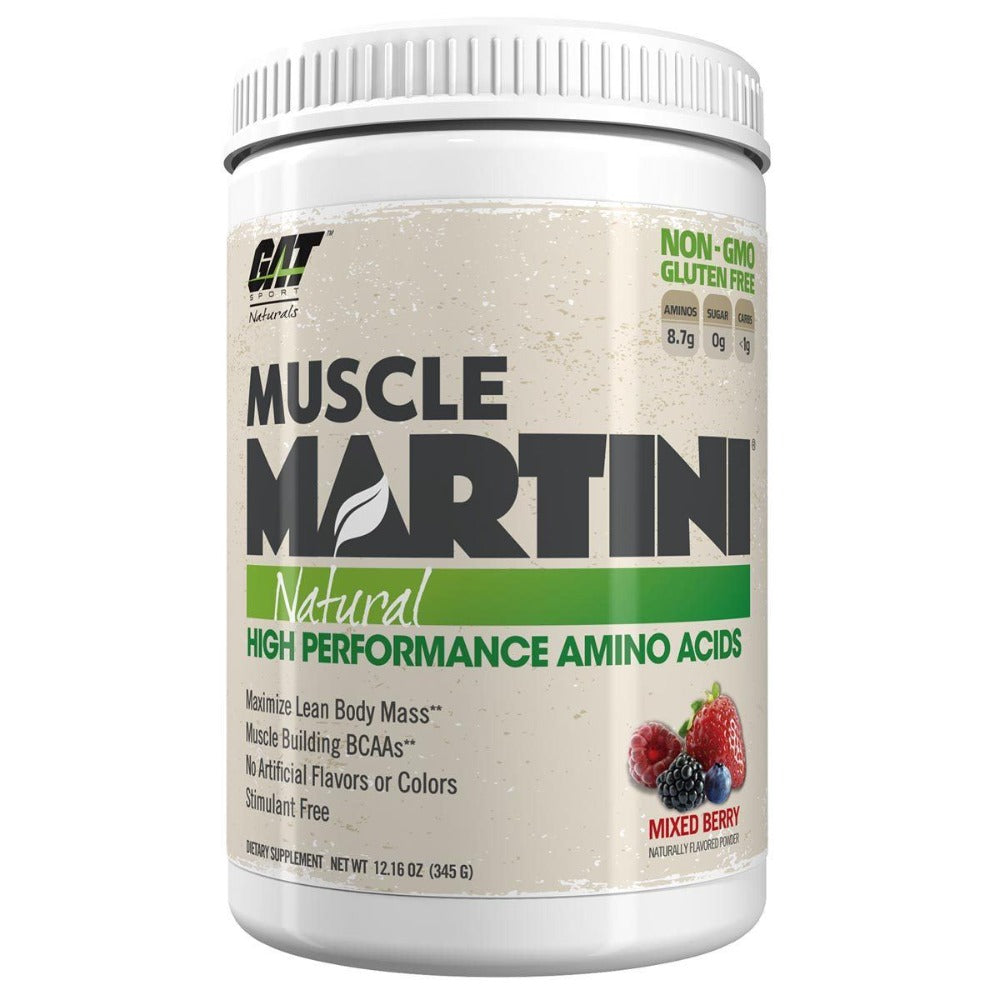 GAT Muscle Martini Naturals 30SV Mixed Berry Amino Acids GAT  (1399413047339)