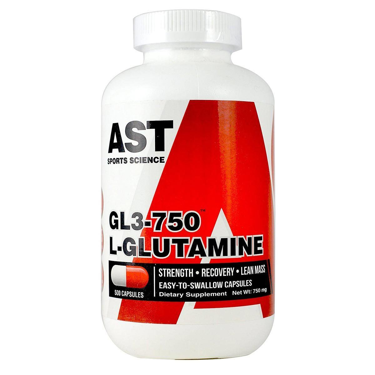 AST GL3-750mg Micronized Glutamine 500 Caps Amino Acids AST  (1058962767915)