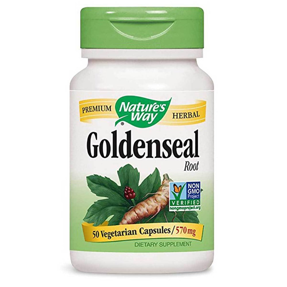 Nature's Way Goldenseal Root 570mg 50 Caps Nature's Way  (1058838413355)