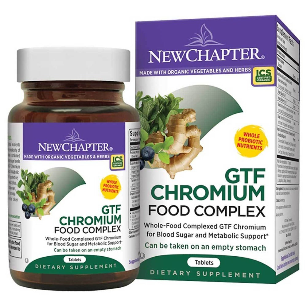 New Chapter GTF Chromium Food Complex 200mcg 30 Tabs Minerals New Chapter  (1058725855275)