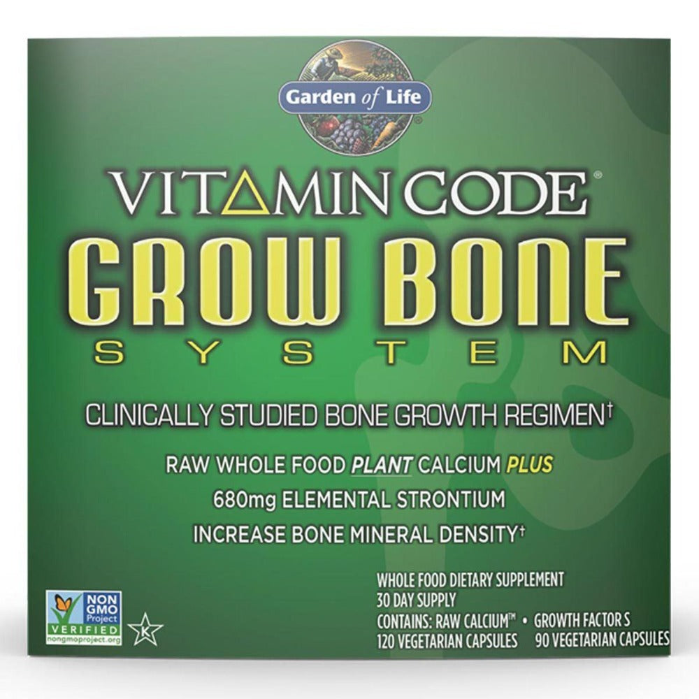 Garden of Life Vitamin Code Grow Bone System 30 Day Supply Joint Aids Garden of Life  (1058947170347)