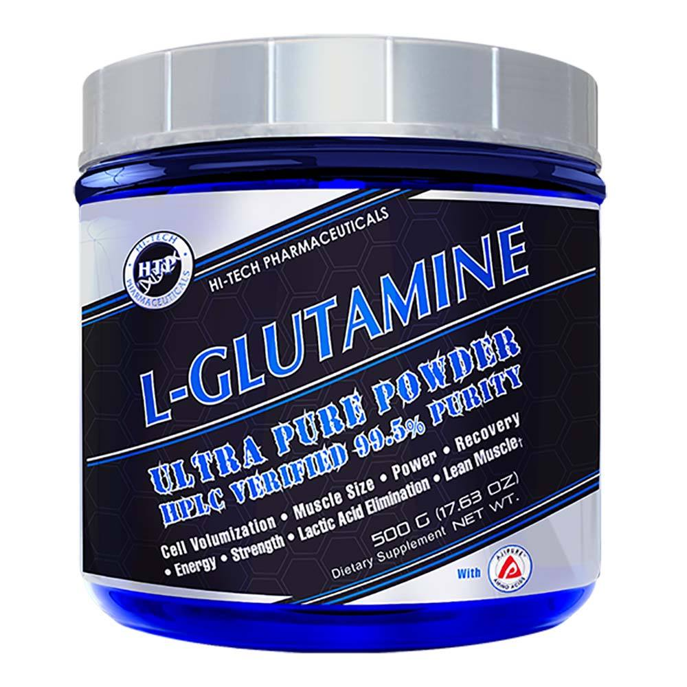 Hi-Tech Pharmaceuticals L-Glutamine 500g Amino Acids Hi-Tech Pharmaceuticals  (4555299586113)