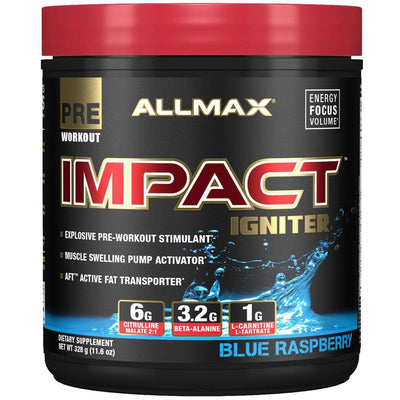 Allmax Nutrition IMPACT Igniter 20 Servings Amino Acids Allmax Nutrition Blue Raspberry  (1059295887403)