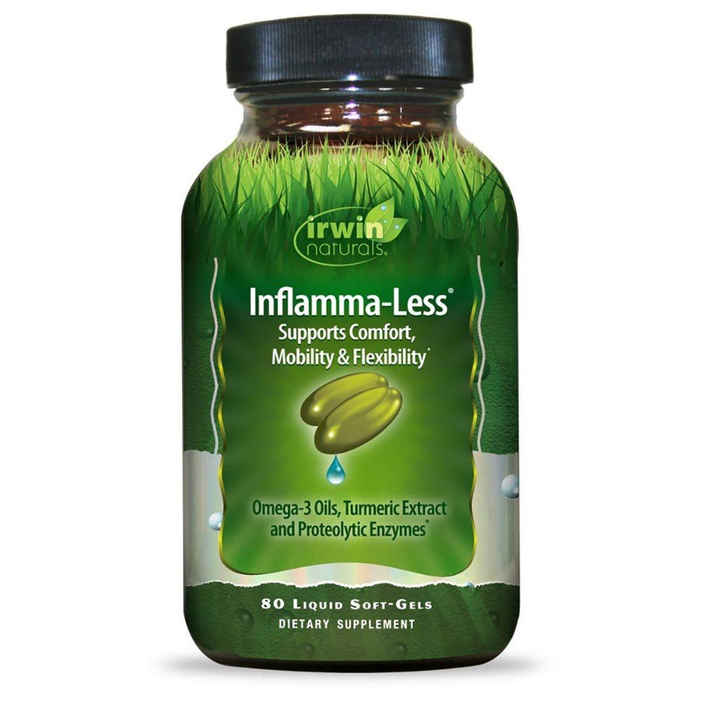 Irwin Naturals Inflamma-Less Tissue and Mobility Support 80 Gels Joint Aids Irwin Naturals  (1058093400107)