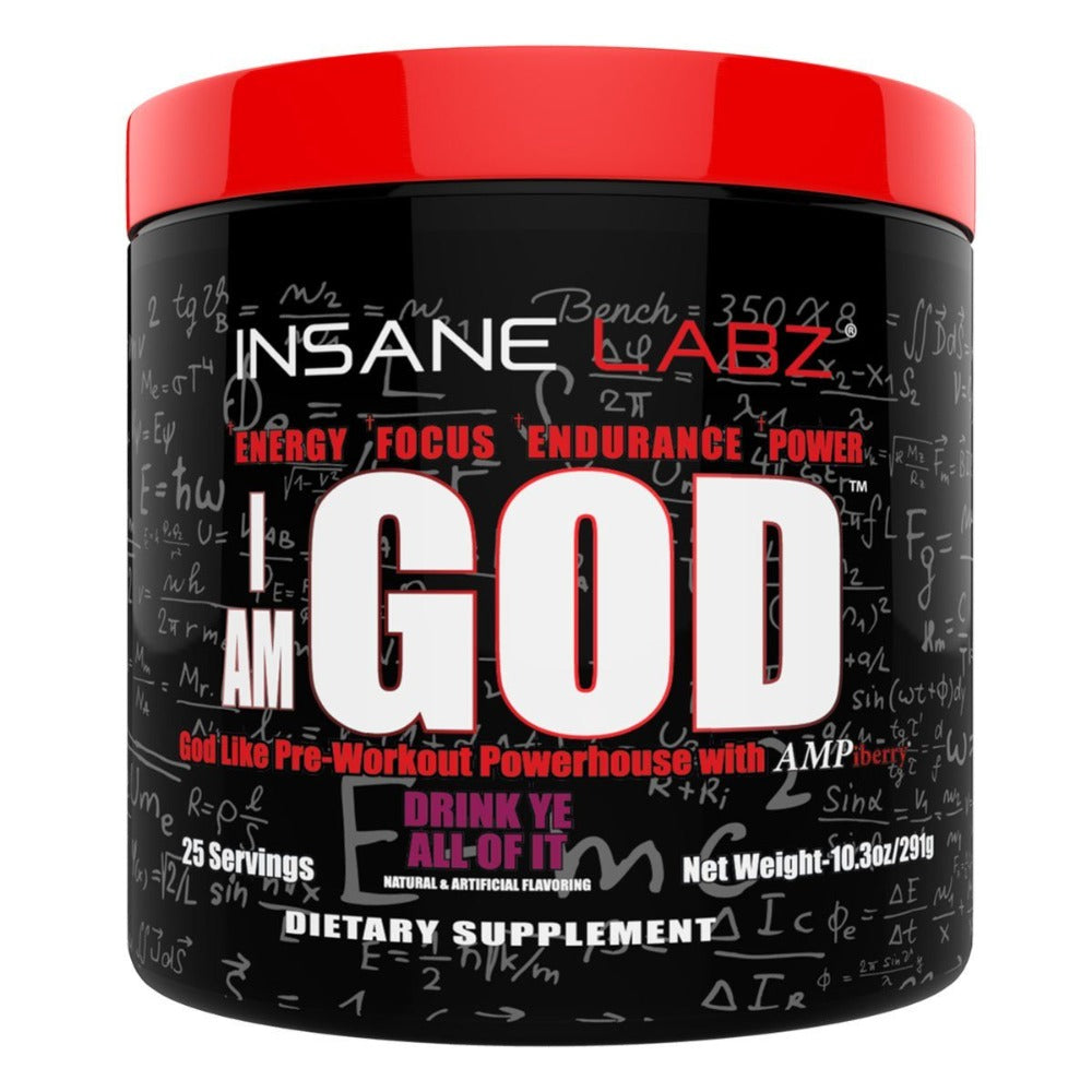 Insane Labz I am God 25 Servings Sports Performance Recovery Insane Labz Drink Ye All Of It  (1712165519403)