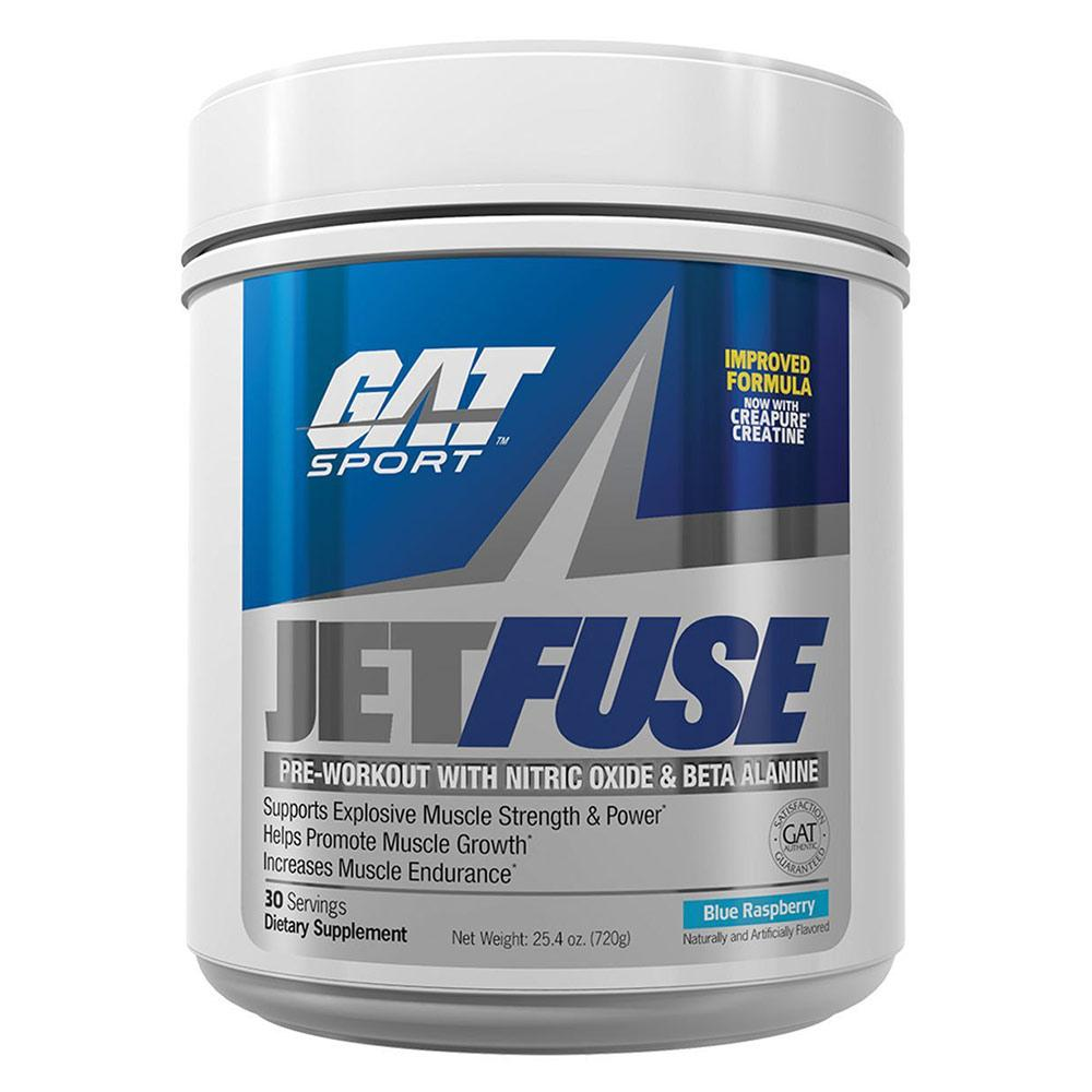 GAT JetFuse 30 Servings Nitric Oxide GAT Blue Raspberry  (1557008121899)