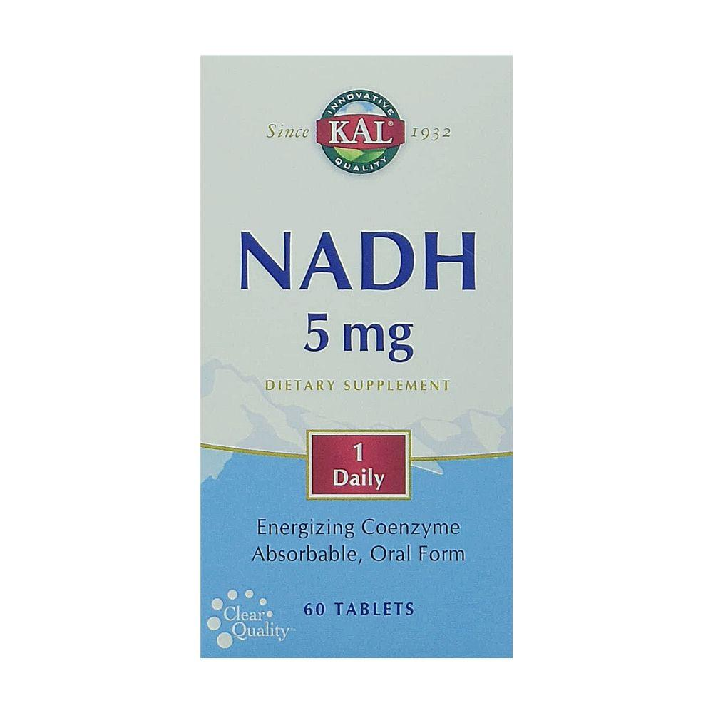 KAL NADH 5mg 60 Tabs Specialty Health Products Kal  (1790518329387)
