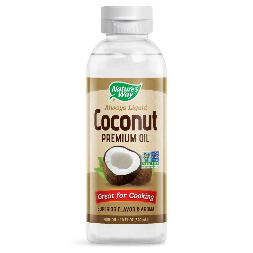 Nature's Way Liquid Coconut Oil 10 Oz Other Supplements Nature's Way  (1058759475243)