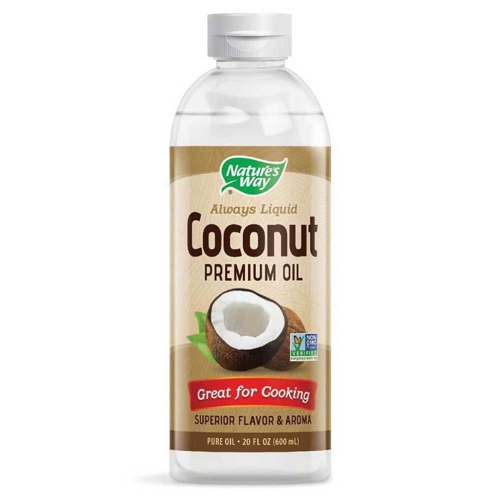 Nature's Way Liquid Coconut Oil 20 Oz Omega Fatty Acids / EFAs Nature's Way  (1058759606315)