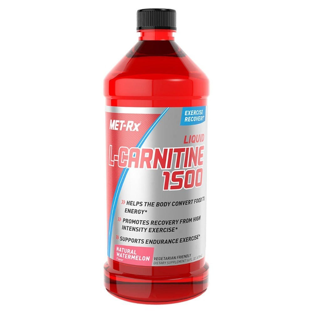 Met-Rx Liquid L-Carnitine 1500 Natural Watermelon 16 oz (473 ml) Amino Acids Met-Rx  (1058937307179)