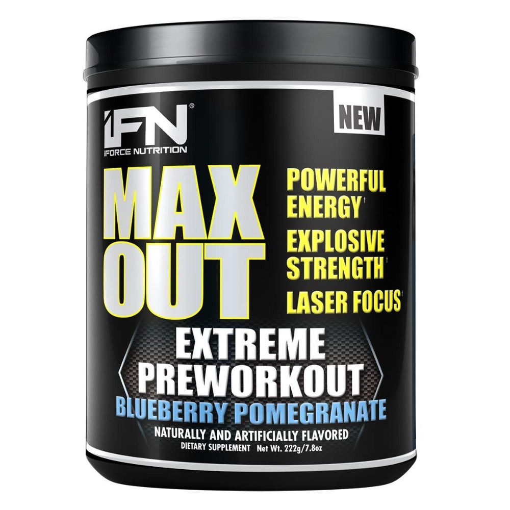 iForce Nutrition Max Out Pre-Workout 30 Servings Pre-workout IFORCE Blueberry Pomegranate  (1059070738475)