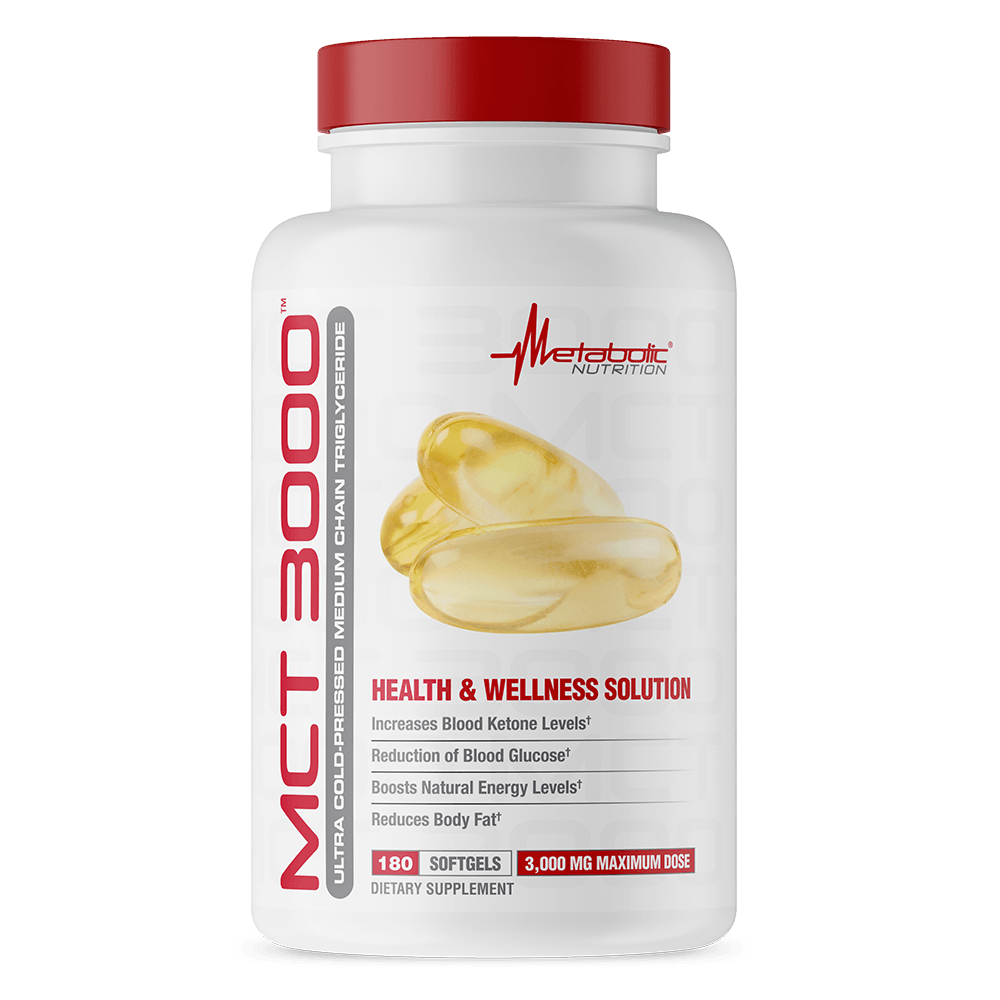 Metabolic Nutrition MCT 3000 180 Softgels Essential Fatty Acids & - Oils Metabolic Nutrition  (1777811619883)