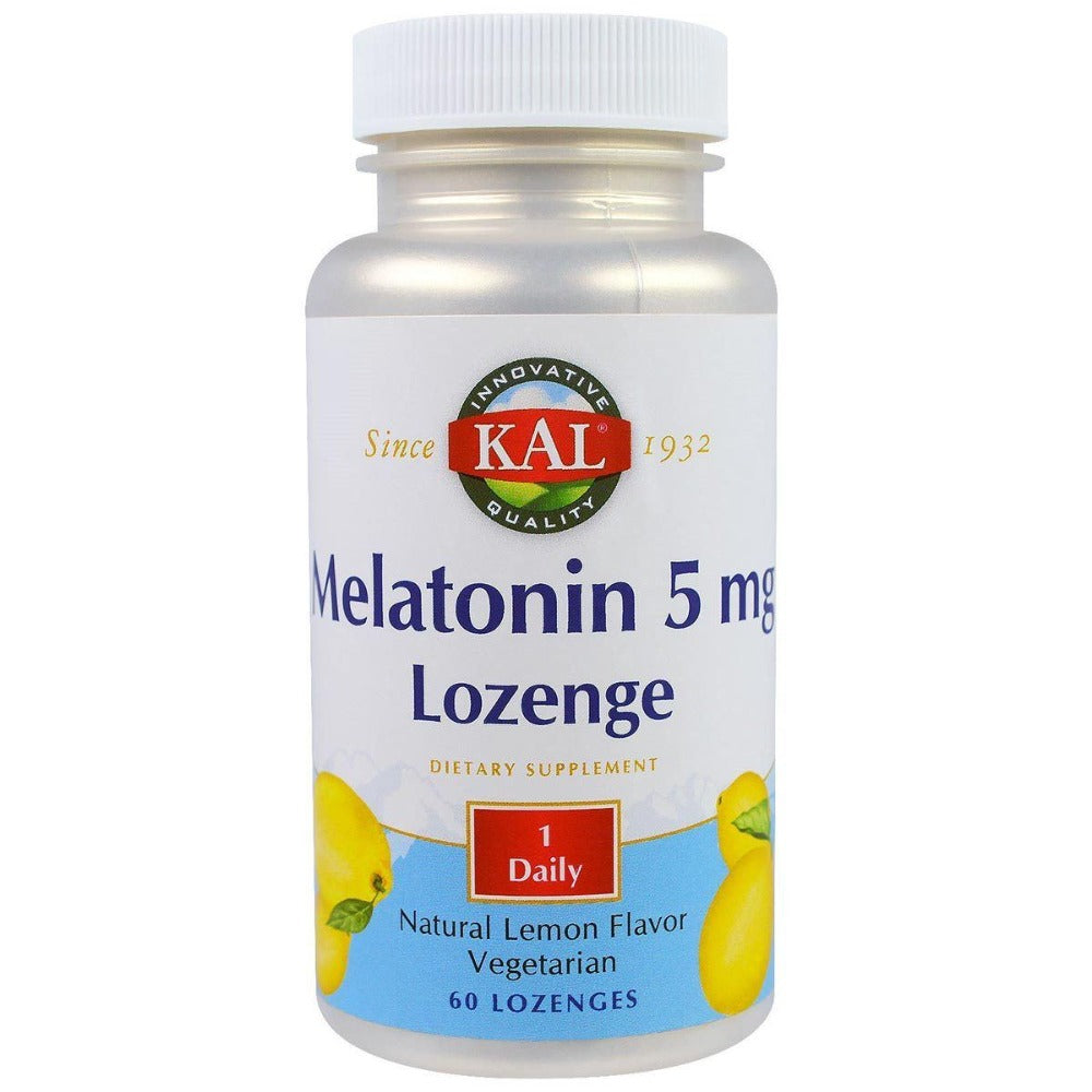 Kal Melatonin Lemon 5mg 60 Lozenges Sleep Aid Kal  (1057879818283)