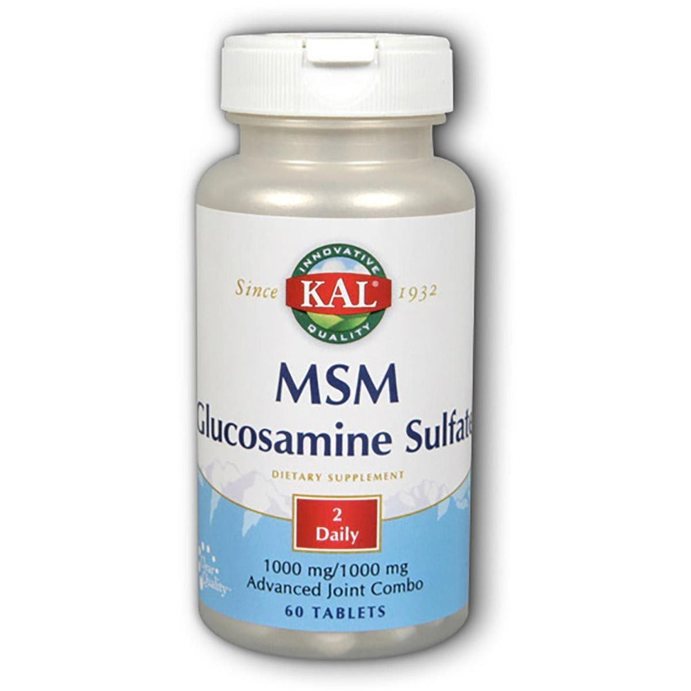 Kal MSM w/ Glucosamine Sulfate 60 Tabs Joint Aids Kal  (1057878736939)