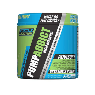 Muscle Addiction Pump Addict 40/sv Pre-Workouts Muscle Addiction Blue Raspberry Lemonade  (4602511392833)