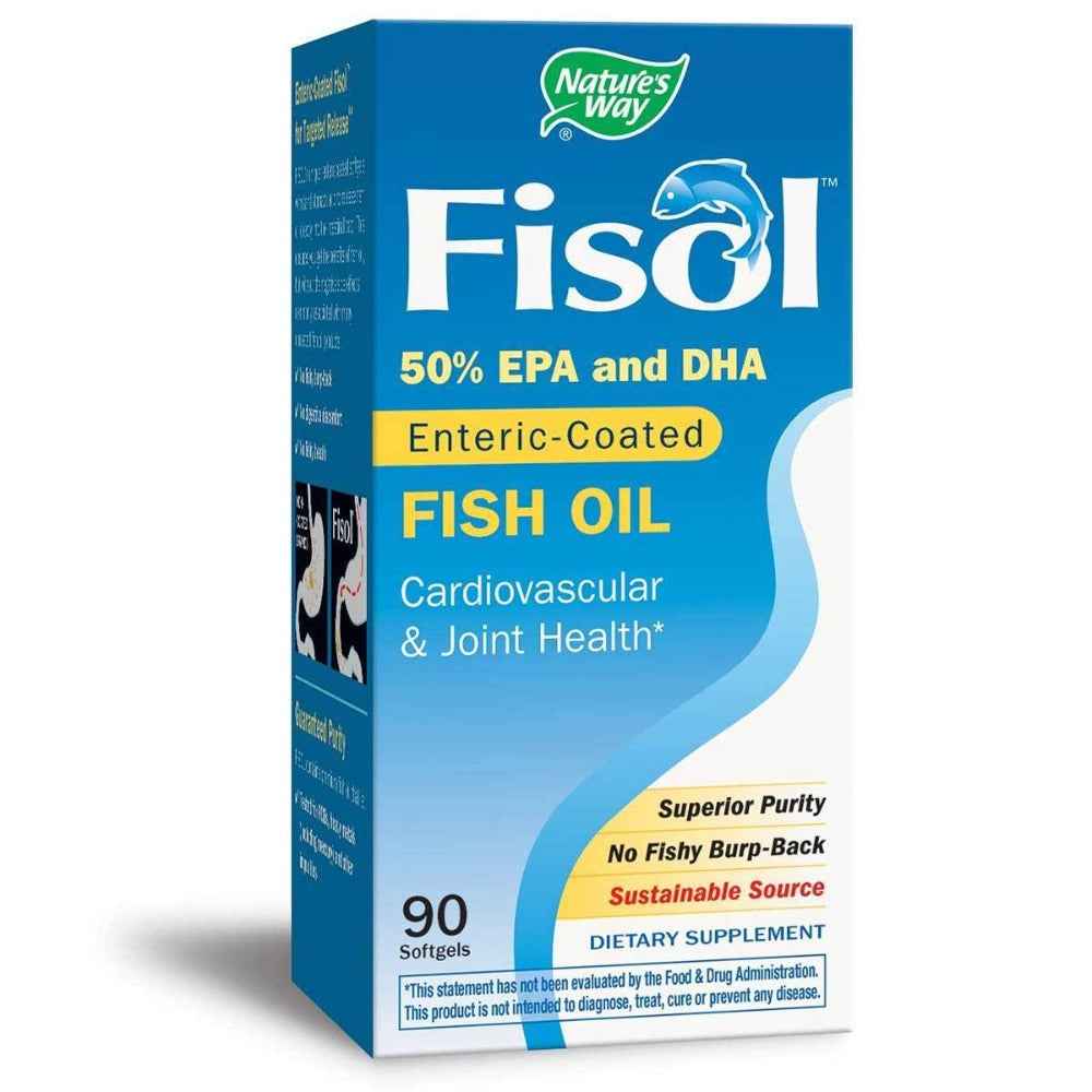 Nature's Way Fisol Fish Oil 90 Softgels Omega Fatty Acids / EFAs Nature's Way  (1057949057067)