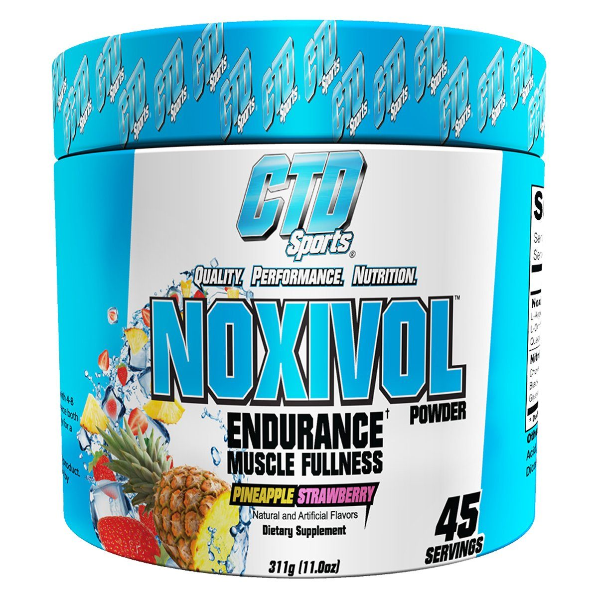 CTD Labs Noxivol Powder 45 Servings Pre-workout CTD Labs Pineapple Strawberry  (1059050029099)