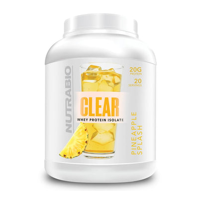 NutraBio Clear Isolate 20/sv Protein Powders NutraBio Pineapple Splash  (4609921089601)