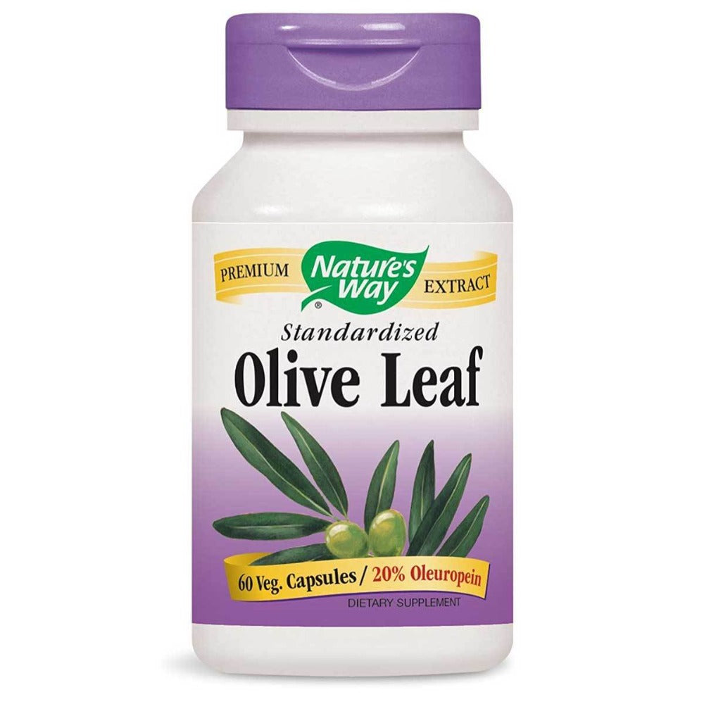 Nature's Way Olive Leaf Extract Standardized 20% Oleuropein 60 Vege Caps Antioxidants / CoQ-10 Nature's Way  (1059094954027)