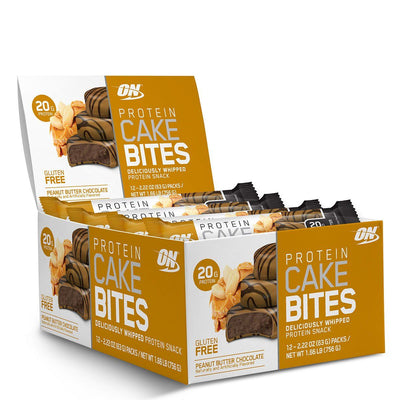 Optimum Nutrition Protein Cake Bites 12/Box Foods & Snacks Optimum Nutrition Peanut Butter Chocolate  (1059269804075)