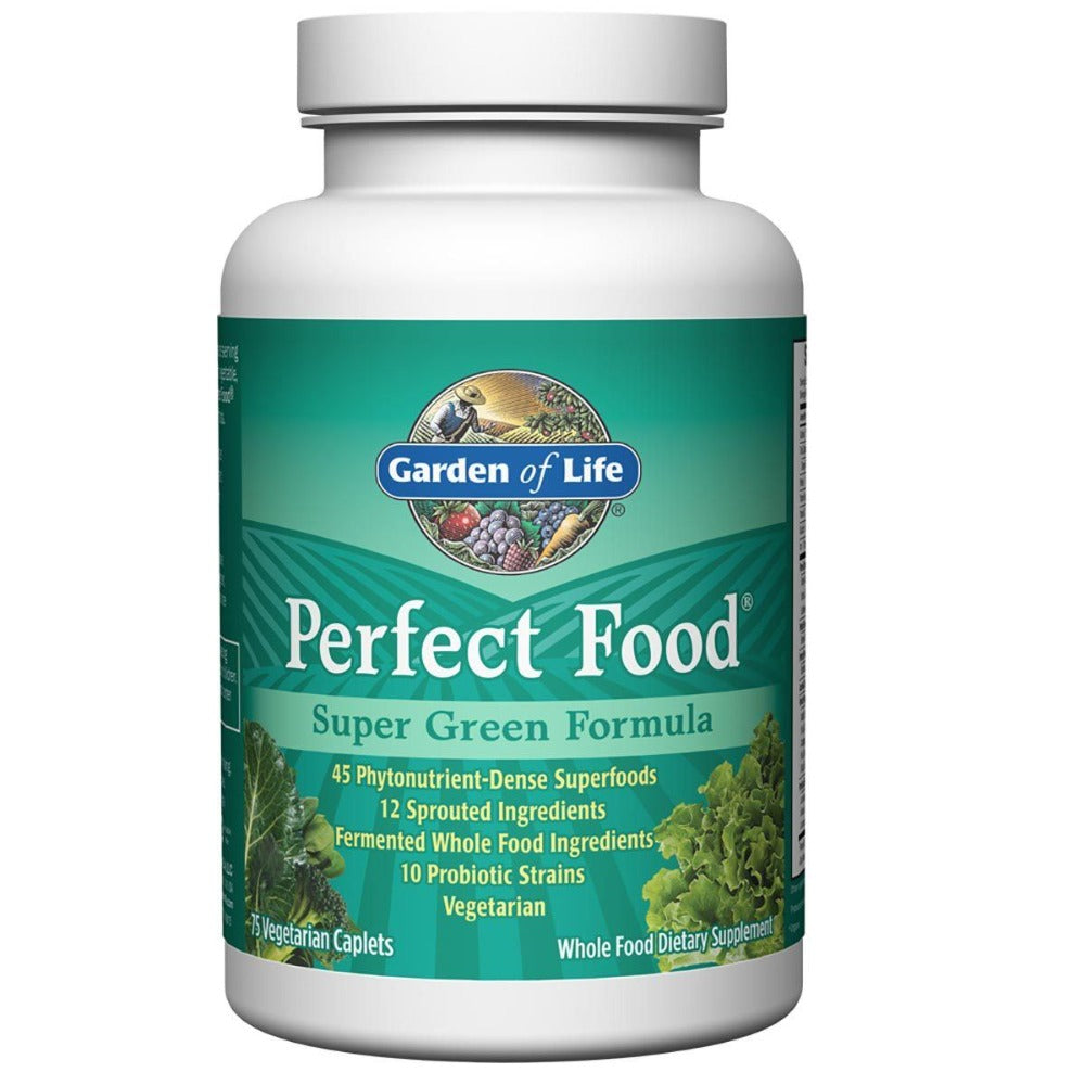 Garden of Life Perfect Food 75 Caplets Greens / Super Foods Garden of Life  (1058829533227)
