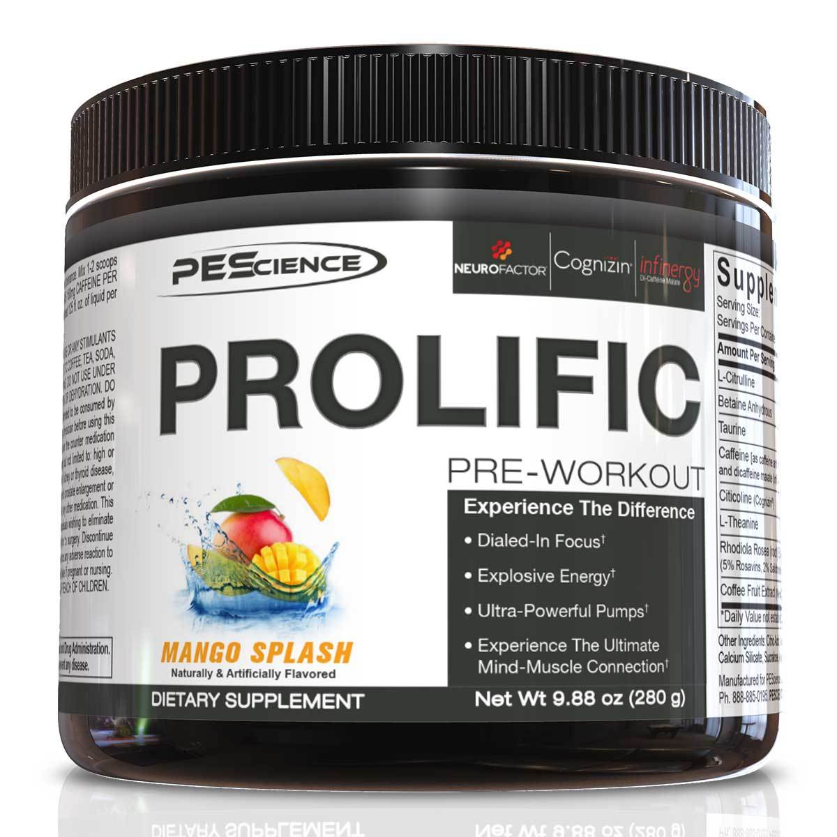 PEScience Prolific 20 Servings Sport Performance / Recovery PEScience  (1059324002347)