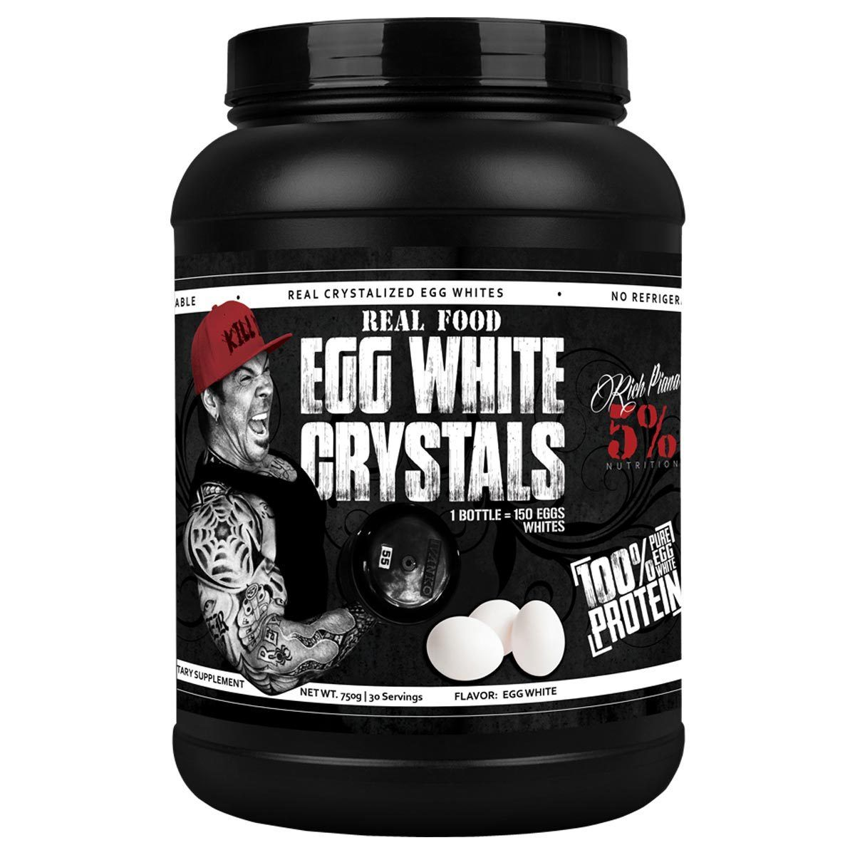 5% Nutrition Real Food Egg White Crystals 30 Servings Protein 5% Nutrition Unflavored  (1059322298411)