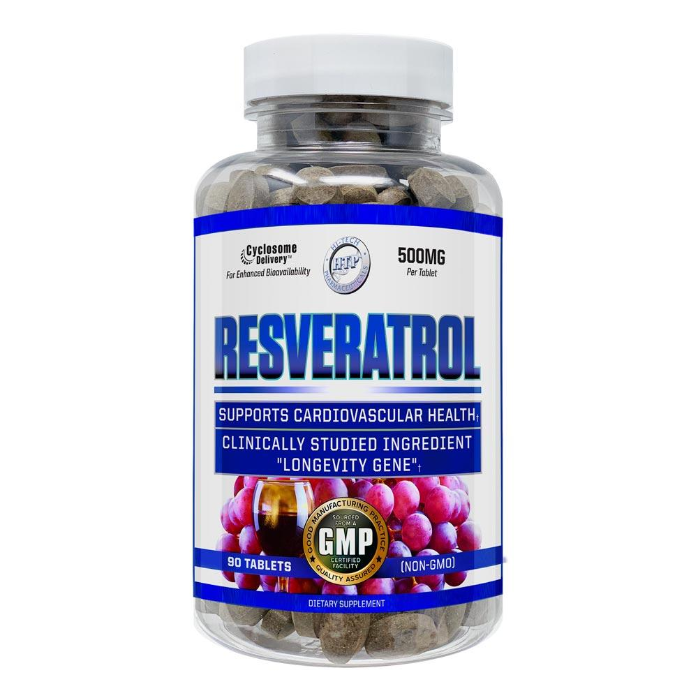 Hi-Tech Pharmaceuticals Resveratrol 500mg 90 Tablets Specialty Health Products Hi-Tech Pharmaceuticals  (4430101020737)