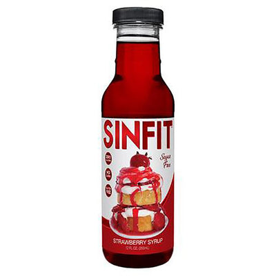 Sinfit Nutrition Pancake Syrup 12OZ Foods & Snacks Sinister Labs PSYCHO STRAWBERRY