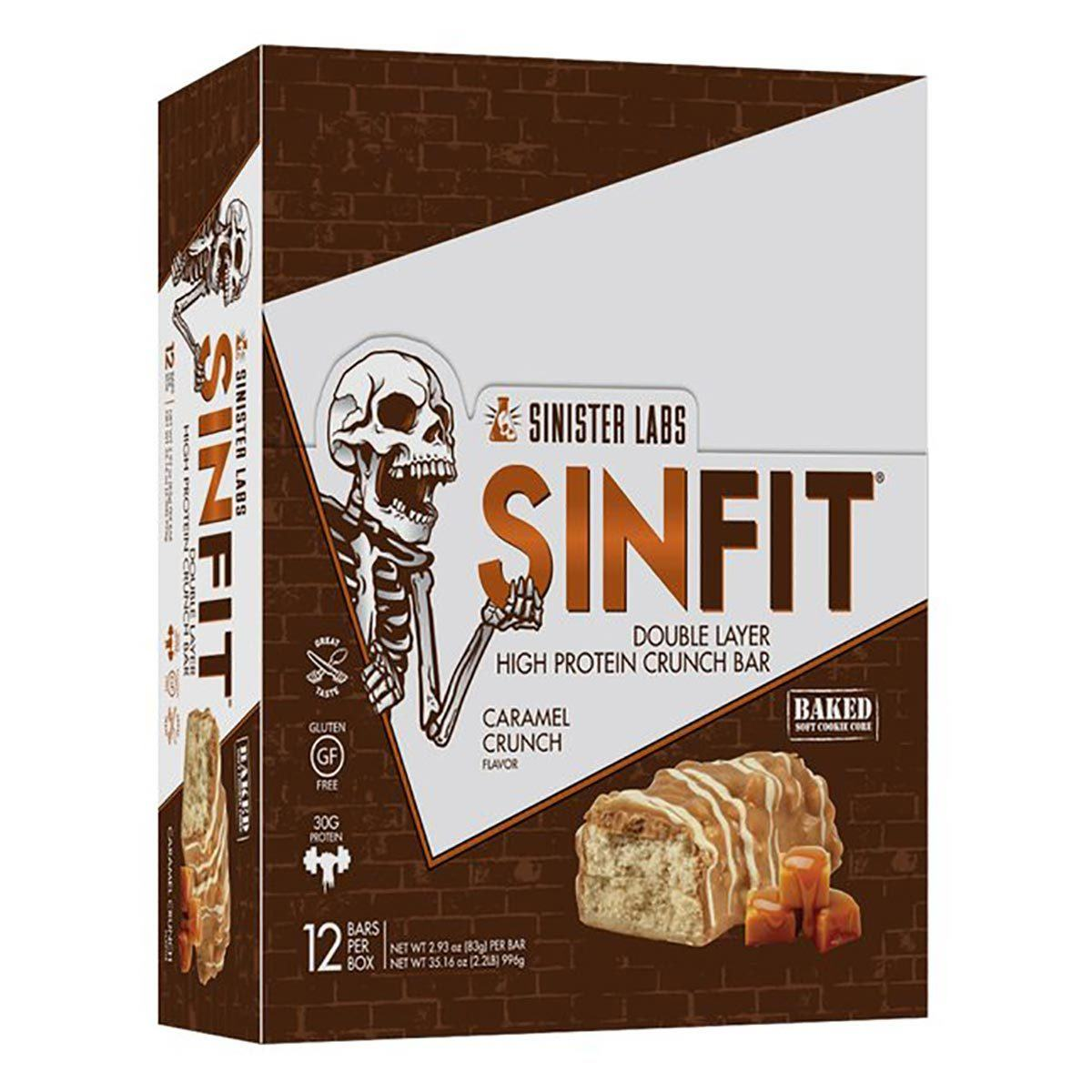 Sinister Labs SinFit Bar 12/Box Sinister Labs Caramel Crunch  (1059328720939)