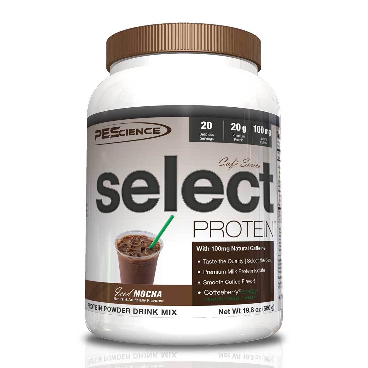 PEScience Cafe Select Protein 20 Serving Protein PEScience Iced Mocha  (1059247783979)