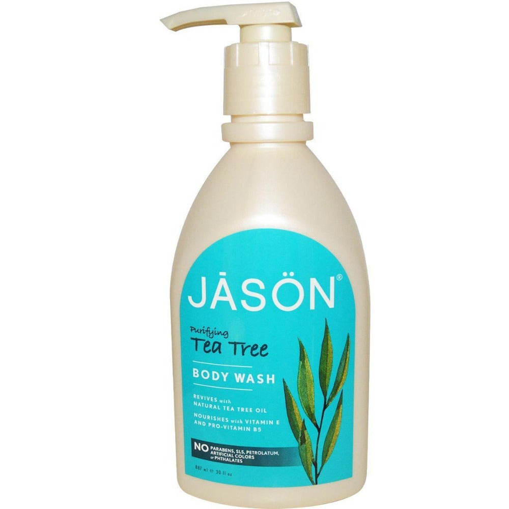 Jason Tea Tree Satin Body Wash 30 oz Personal Care Jason  (1057907671083)