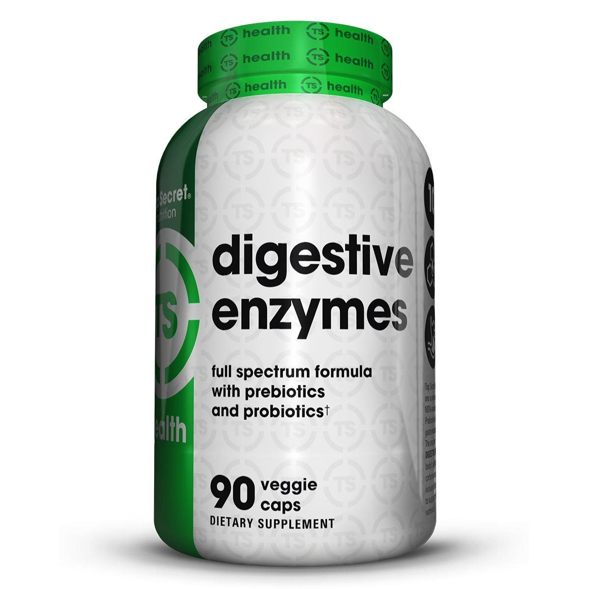 Top Secret Nutrition Digestive Enzymes 90CT Digestive Health / Probiotics TOP SECRET NUTRITION  (1059309649963)