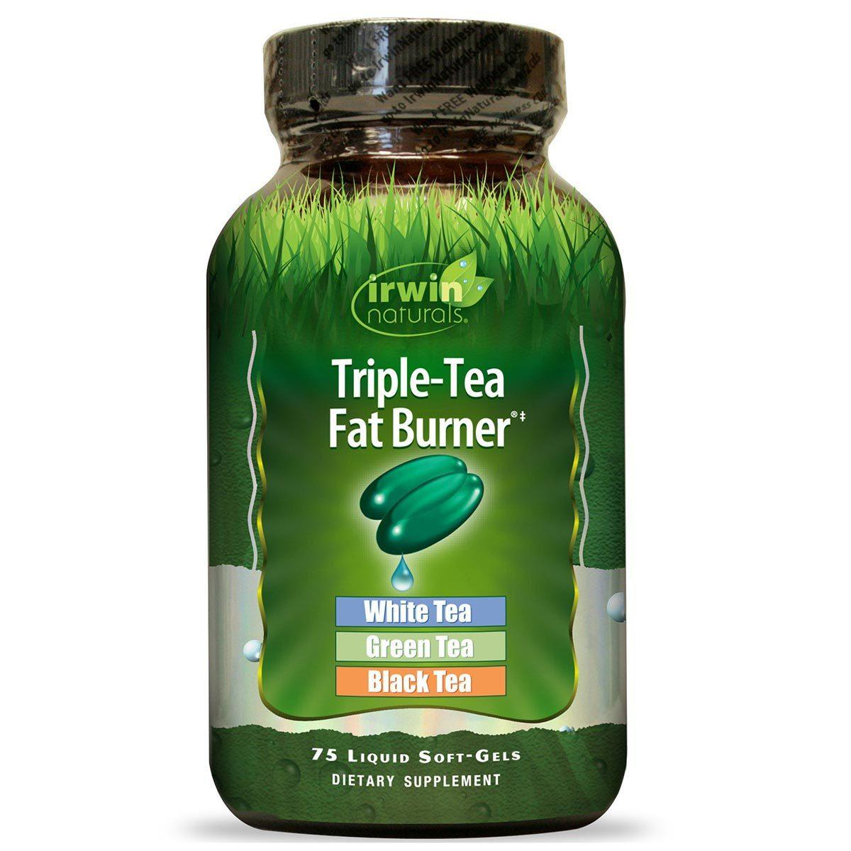 Irwin Naturals Triple-Tea Fat Burner 75 Liquid Soft Gels Diet/Energy Irwin Naturals  (1058861350955)