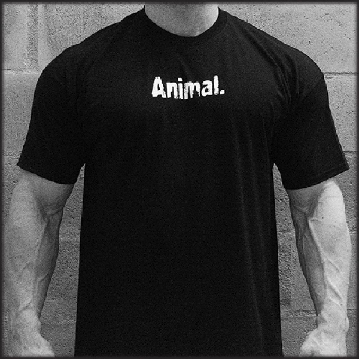 "Universal T-Shirt (Black) ""Animal"" 2XL Fitness Accessories and Apparel Universal  (1058037104683)"