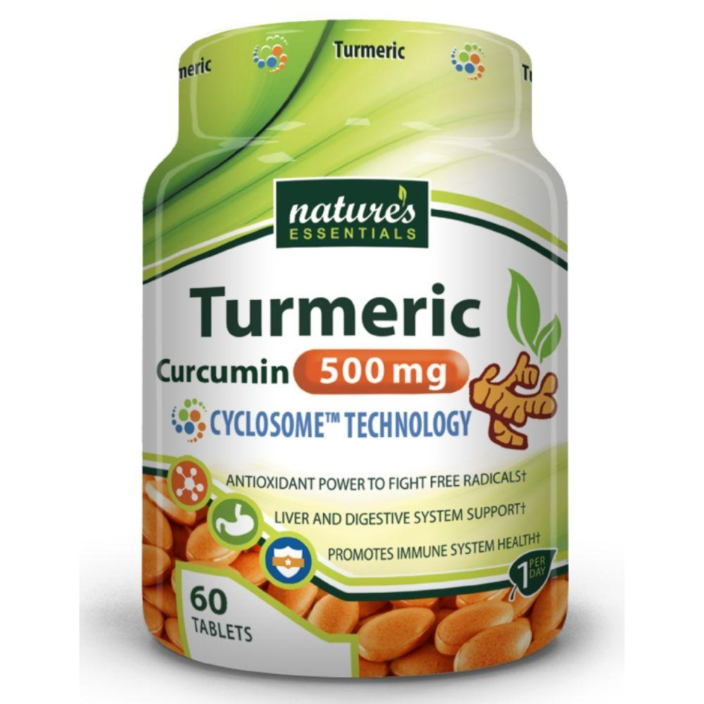 Nature's Essentials Turmeric 500mg 120 Tablets Herbs Nature's Essentials  (4474668613697)