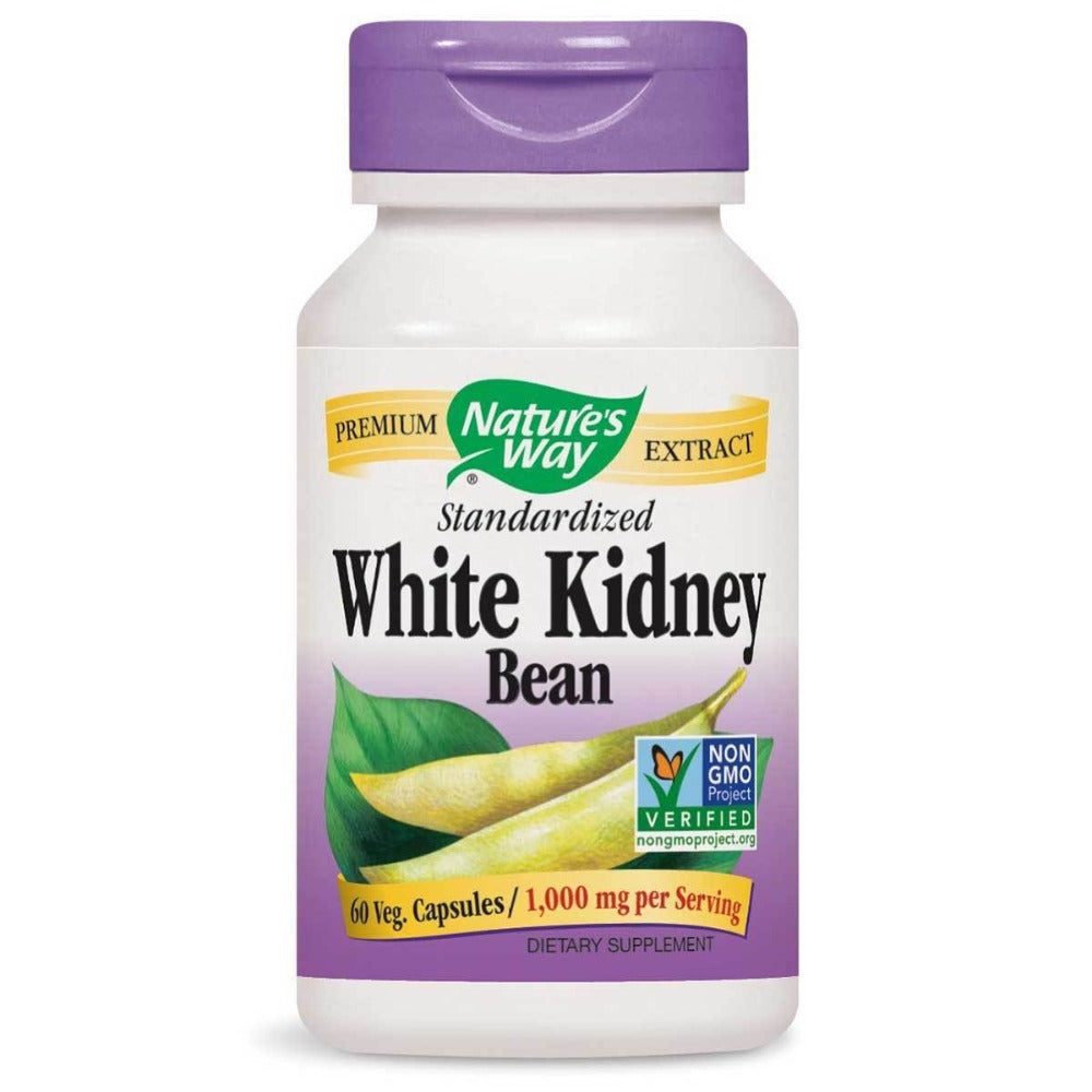 Nature's Way White Kidney Bean Extract 500mg 60 Vcaps Diet/Energy Nature's Way  (1059048357931)