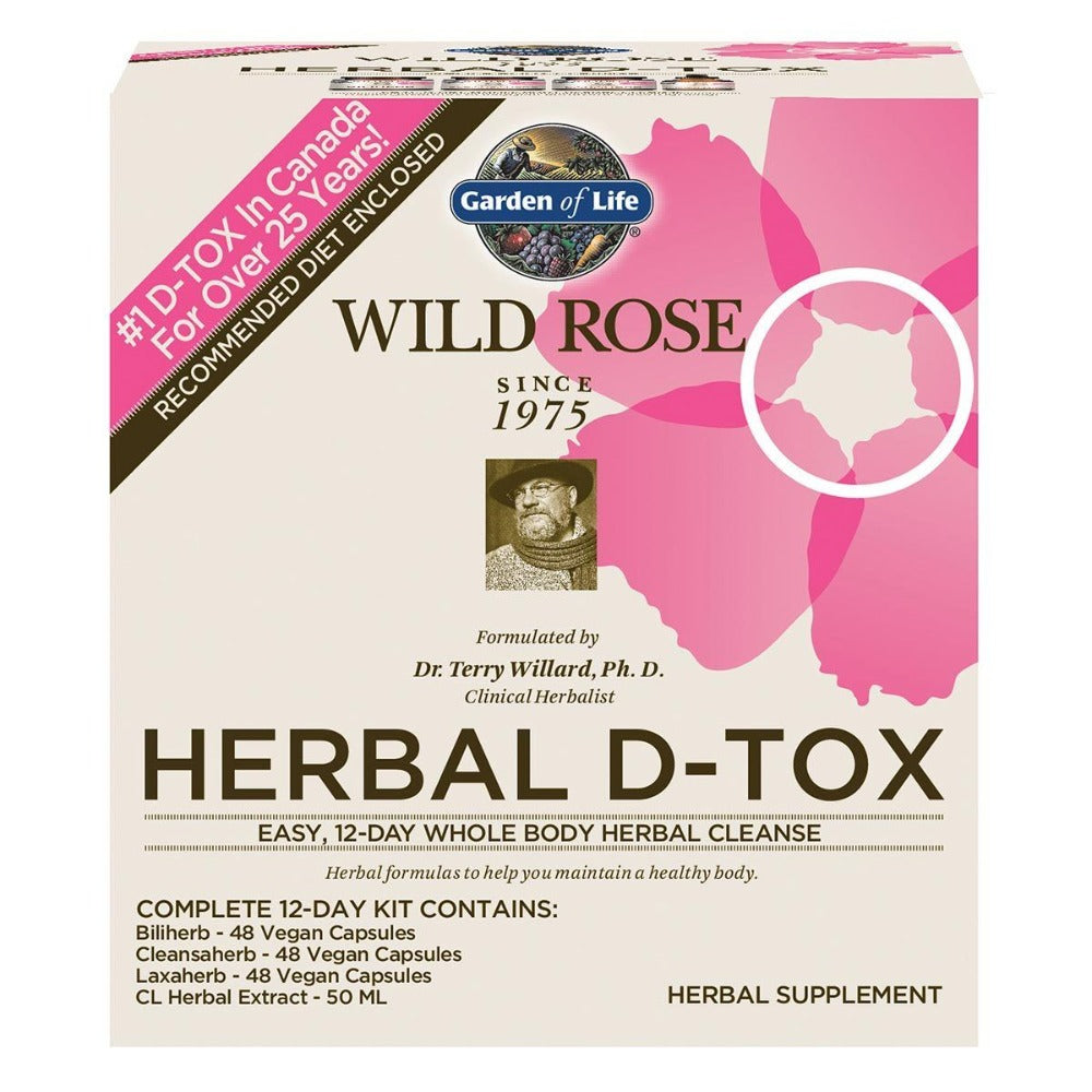 Garden of Life Wild Rose Herbal D-Tox 12 Day Kit Digestive Health / Probiotics Garden of Life  (1058840936491)