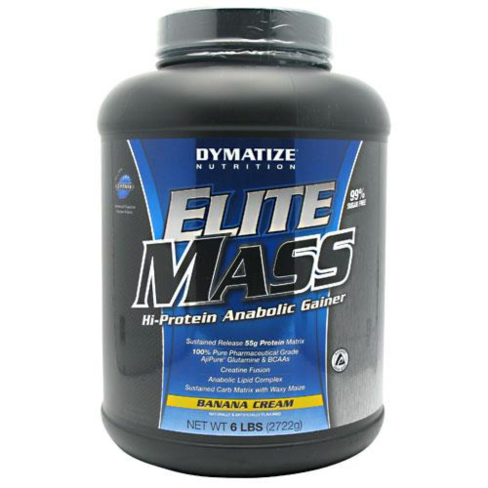 Dymatize Nutrition Elite Mass 6lbs Protein Dymatize Strawberries & Cream  (1058535276587)