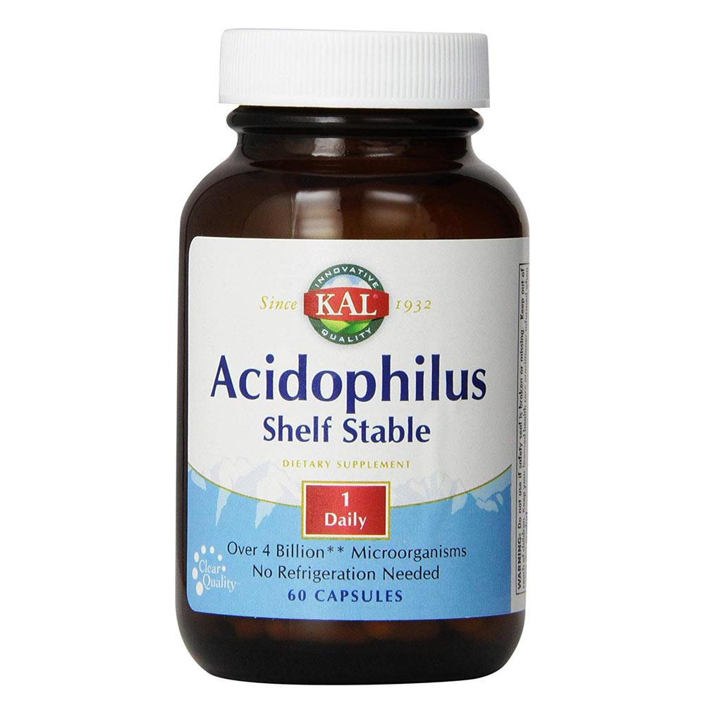 Kal Acidophilus 4 Billion Microorganisms 60 Count | No Refrigeration Needed Digestive Health Kal  (1777899307051)