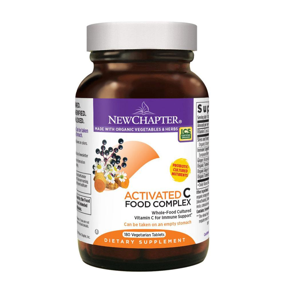 New Chapter Activated C Food Complex 180 Tablets | Vitamin C Vitamins & Minerals New Chapter  (1784210817067)