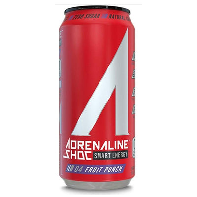 Adrenaline Shoc 12/Case Drinks Adrenaline Shoc Fruit Punch  (4344211341377)