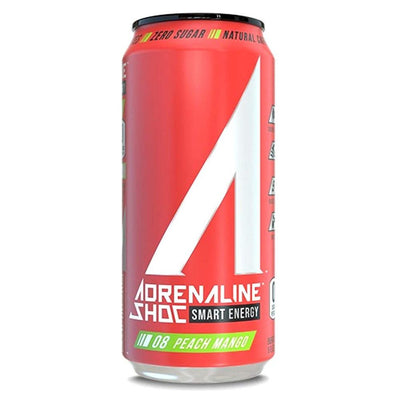 Adrenaline Shoc 12/Case Drinks Adrenaline Shoc Peach Mango  (4344211341377)
