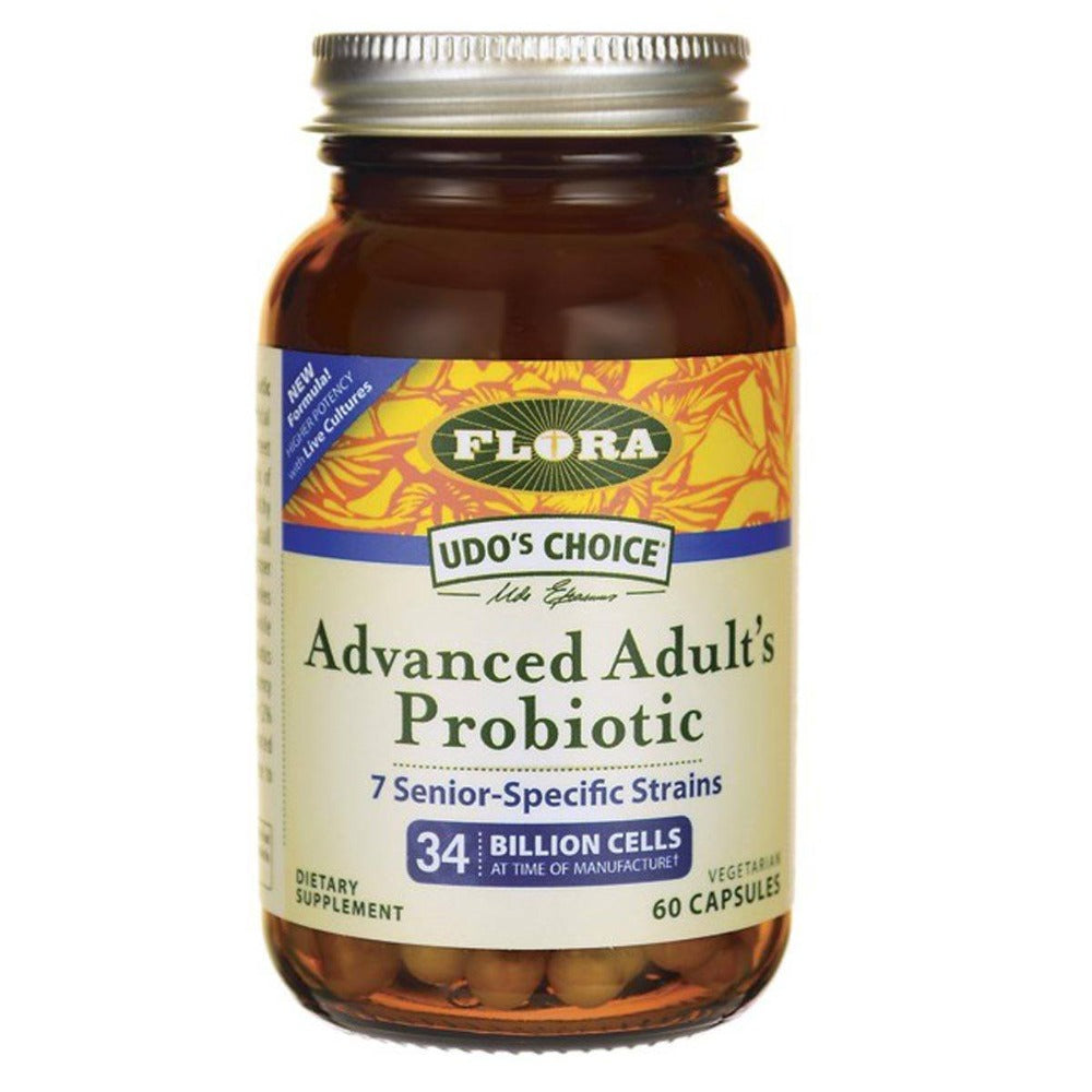 Flora (Udo's Choice) Udo's Choice Advanced Adult's Probiotic 60 Capsules Digestive Health / Probiotics Flora (Udo's Choice)  (1058771566635)