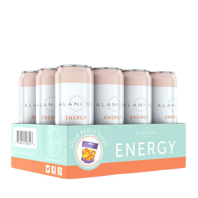 Alani Nu Energy RTD 12/Case Drinks Alani Nu Sour Peach Rings  (4407836246081)