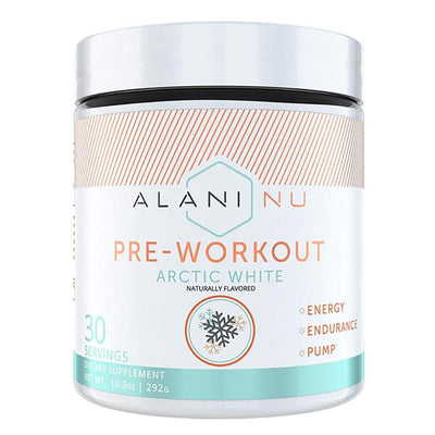 Alani Nu Pre-Workout 30 Servings Sports Performance Recovery Alani Nu ARCTIC WHITE  (1776702554155)