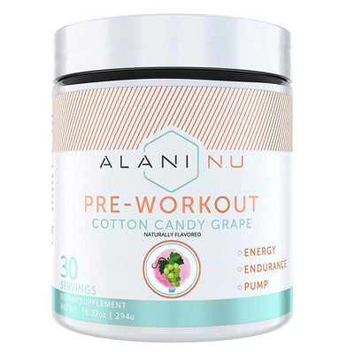 Alani Nu Pre-Workout 30 Servings Sports Performance Recovery Alani Nu COTTON CANDY GRAPE  (1776702554155)