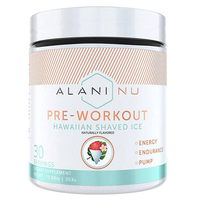 Alani Nu Pre-Workout 30 Servings Sports Performance Recovery Alani Nu HAWAIIAN SHAVED ICE  (1776702554155)