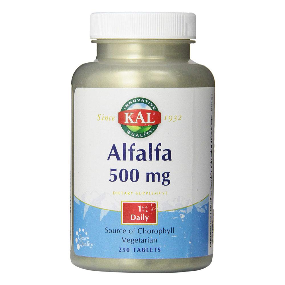 Kal Alfalfa 500mg 250 Tablets | Superfood Herbs Kal  (1777927159851)